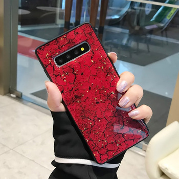 Marble Red Galaxy S10 Plus Case
