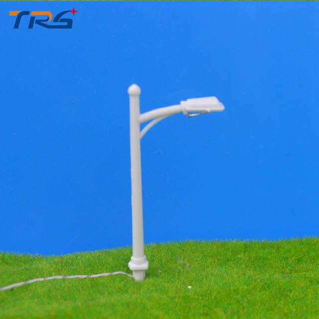 100pcs/lot Model Street Lights LED Lamppost 1:200 Scale Model Street Lamp  Model