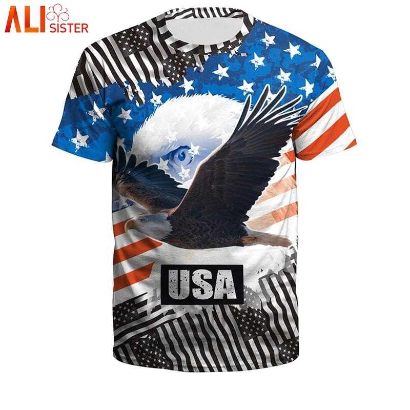 Поддельные 2 шт. Hariy грудь Мужская 3D футболка для женщин короткий рукав О образным вырезом летние футболки с принтом американского флага Забавные футболки Плюс Размер Топы