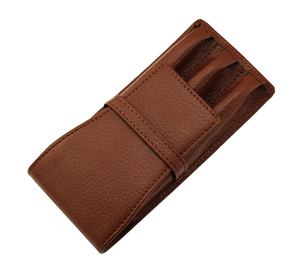 Image 4 - Leather Pencil Case Washed Cowhide Pen Case / Bag for 3 Pens , Coffee Pen Holder / Pouch High Quality for Men & Women