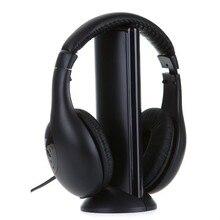 Ssdfly 2018 Hot Selling 5 In 1 Wireless Earphone Watch TV Wireless Headset Stereo Headphone for IPod MP3 FM Watch TV PC