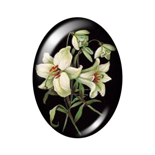 Красивые Винтажные Цветы Роза Маргаритка 10 шт. 13x18 мм/18x25 мм/30x40 мм овальные фото стекло кабошон демонстрационная плоская задняя часть изготовление TB0043 - Цвет: K