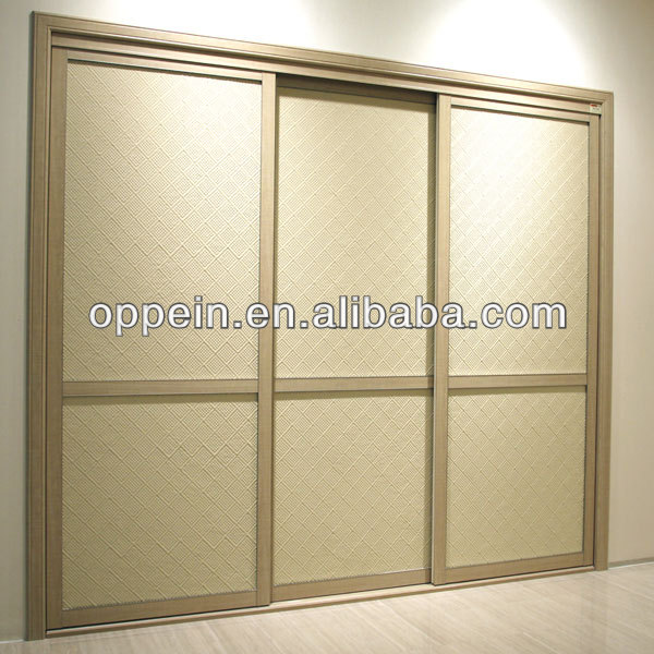 OPPEIN Built In Laminate Sling Door Modular Bedroom