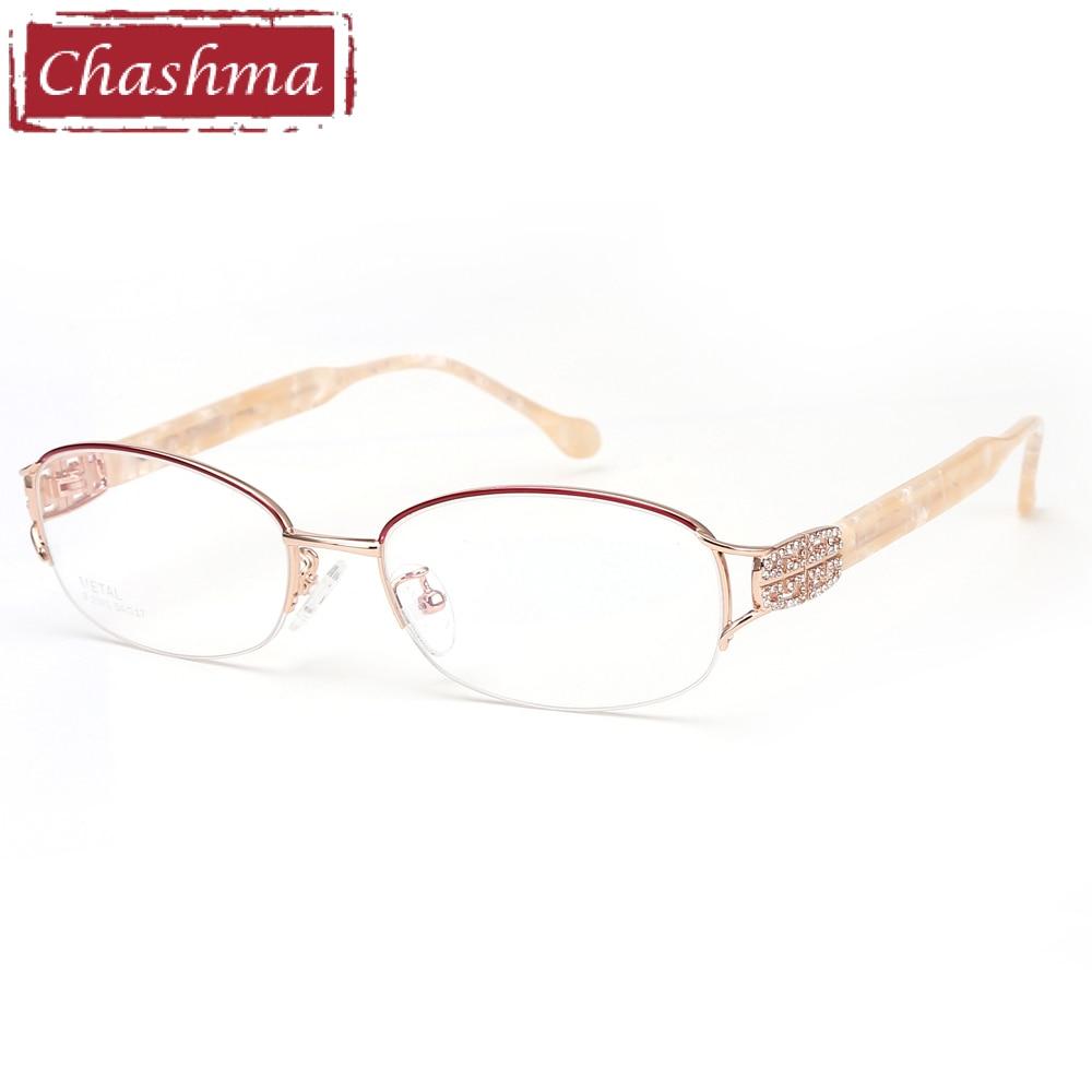 9b3f9cf0ee Comprar Chashma moda titanio puro marco Lentes Opticos Gafas calidad  superior diseñador marcos Gafas Rhinestone mujeres Online Baratos .