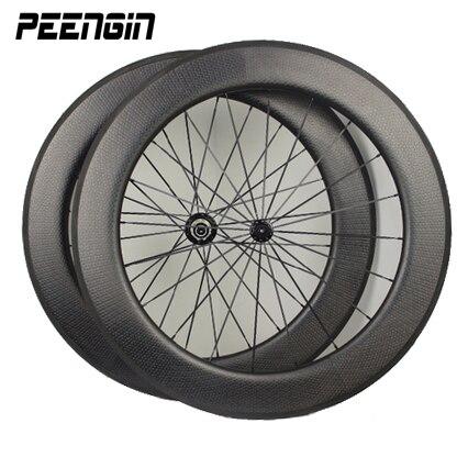 Carbon tubular dimple wheelset 80mm U shape clincher 25mm width road bike wheel toray T800 carbon weave UD weave OEM decal offer цены