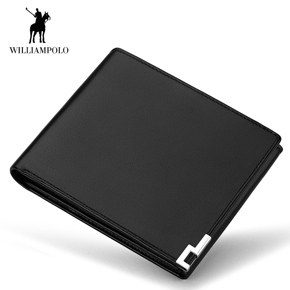 2018 Brand Men's Genuine Leather Trifold Wallet Credit Card Holder Purse Short Male Clutch Leather Wallet Zipper Coin Pocket New williampolo men wallets male purse genuine leather wallet with coin pocket zipper short credit card holder wallets leather