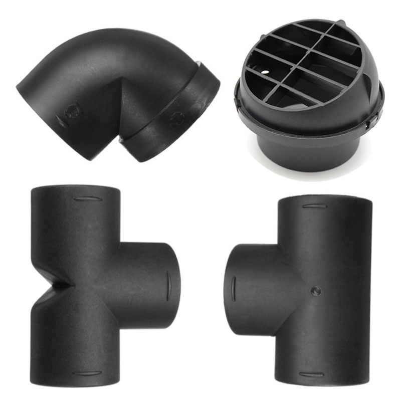 Air Vent Ducting T L Piece Elbow Pipe Outlet Exhaust Connector Joiner For Webasto Eberspaecher Diesel Parking Heater Accessory