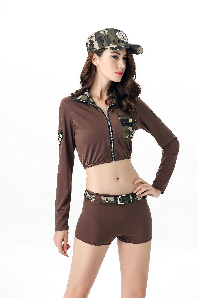 2018 Sexy Police Costume Women Cops Clothing field Army instructors Uniforms Halloween Costume