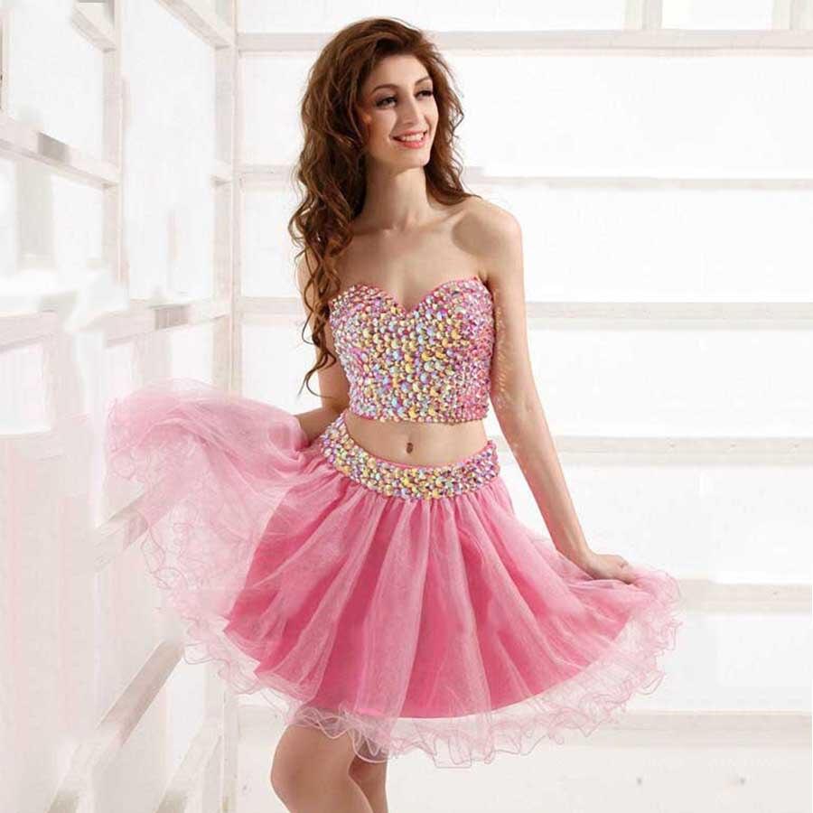 Pink Rhinestone Plus Size Dress – fashion dresses