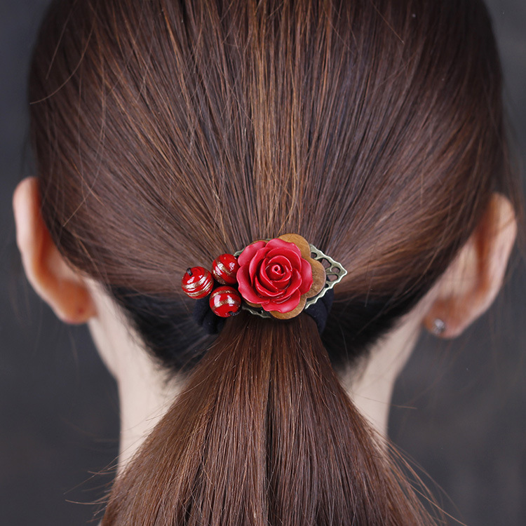 Classical Vintage Pink Hair Sticker Old Chinese Wind Aventurine Lapis Flowers Hairpin chalcedony Ethnic Hair Accessories