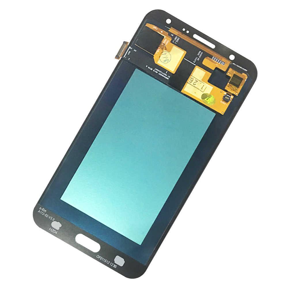 Супер AMOLED ЖК-дисплей 100% протестированный рабочий сенсорный экран в сборе для samsung Galaxy J7 2015 J700 J700F J700H J700M стикер