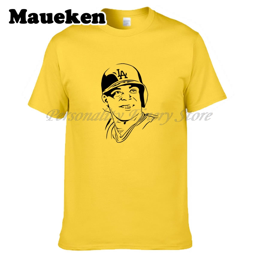 Для мужчин Лос-Анджелес #66 Yasiel Пуч футболка одежда футболка Для мужчин для Доджерс вентиляторы подарок круглым вырезом w0313013