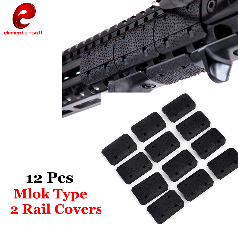 Tactical Mlok Type 2 Rail Covers eMag Pul TYPE 2 M-lok SLOT SYSTEM Rail Panel 12 Pcs For Outdoor Hunting Wargame Mount quik lok rs513