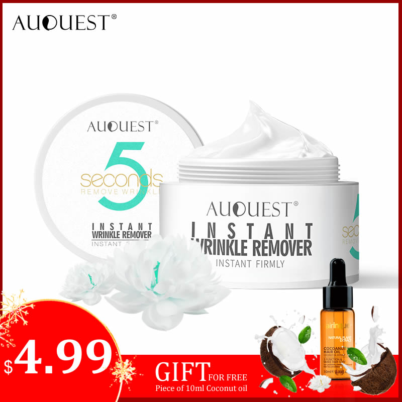 AuQuest 5 Seconds Wrinkle Remover Instant Firmly Peptide Anti-aging Moisturizing Remove Fineline Face Cream Facial Skin Care 20G