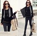 2015 New Fashion Spring New Women's Korean Causal Patchwork Side Zipper Jackets Slim Outerwear Roupas Femininas Coat ZL3272