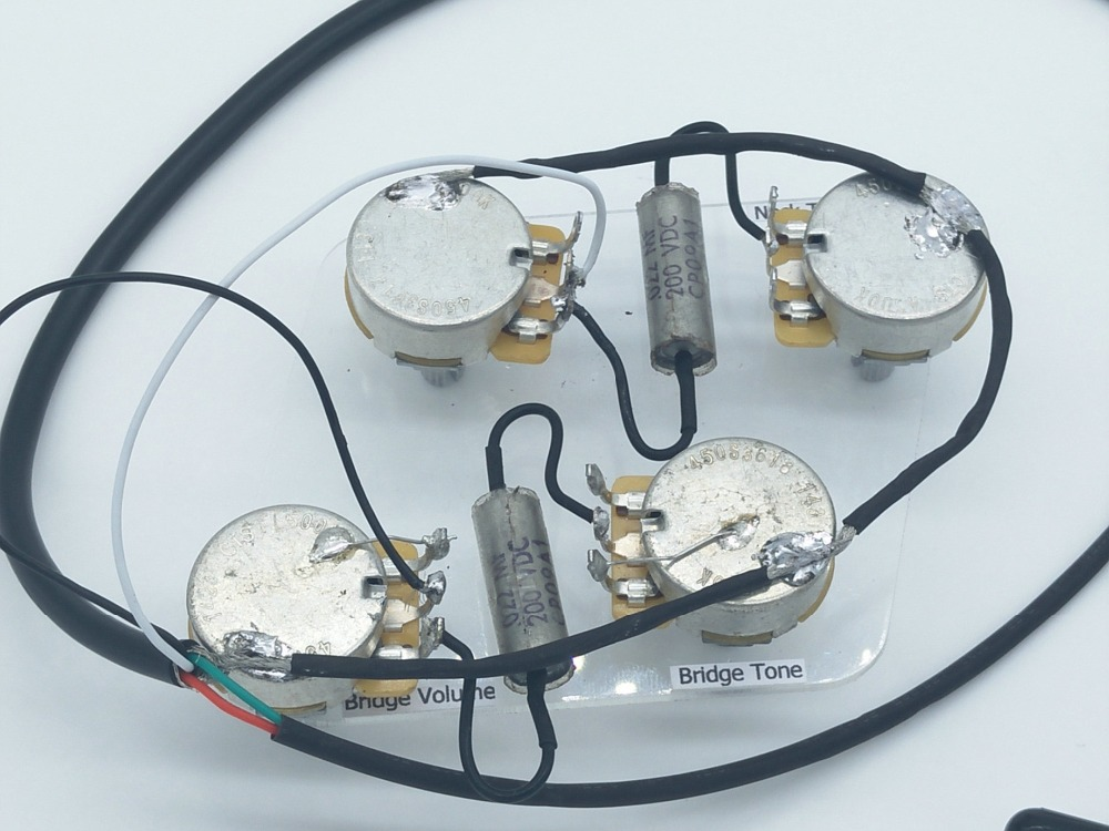 LP Electric Guitar Passive Pickup Wiring Harness ( 4x CTS 500K Pots ...