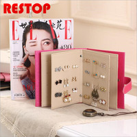 Newest Fashion Women Gift Earring Holder Display Bag For 42 Pairs Earrings Travel Makeup Organizer Jewelry
