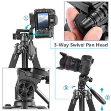 Aluminum 3-Way Camera Tripod