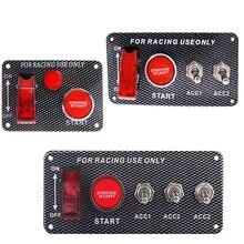 12 В Кнопка зажигания переключатель панель для гоночного автомобиля тумблер кнопка запуска с индикатором и кабелем