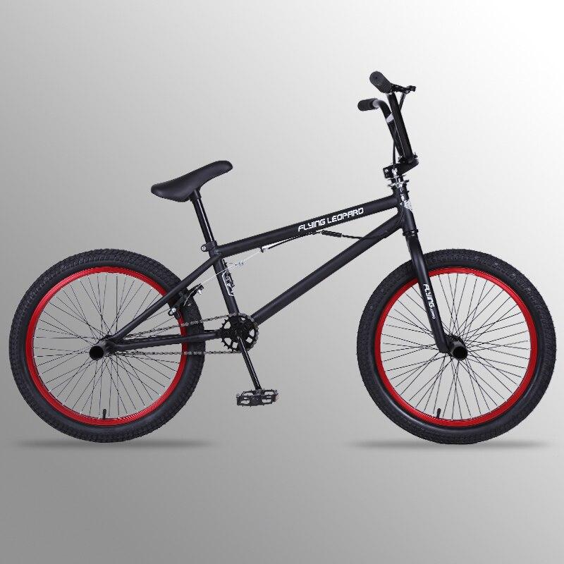 Vol Leopard vélo 20 Pouces cadre en acier Performance Vélo violet/rouge pneu vélo pour le spectacle Stunt Acrobatique Vélo arrière Fantaisie rue