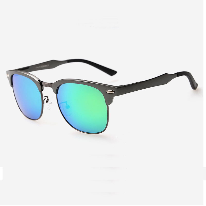 lvvkee 2016 Men/women Polarized Club Sunglasses Magnesium Aluminum Alloy Reflective Mirror Glasses High-grade Polarizer