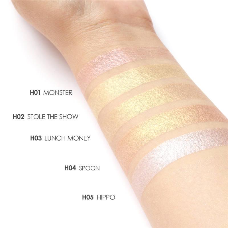 FOCALLURE Highlighter Bronzer Wajah Makeup Eyeshadow Palette - Riasan - Foto 2