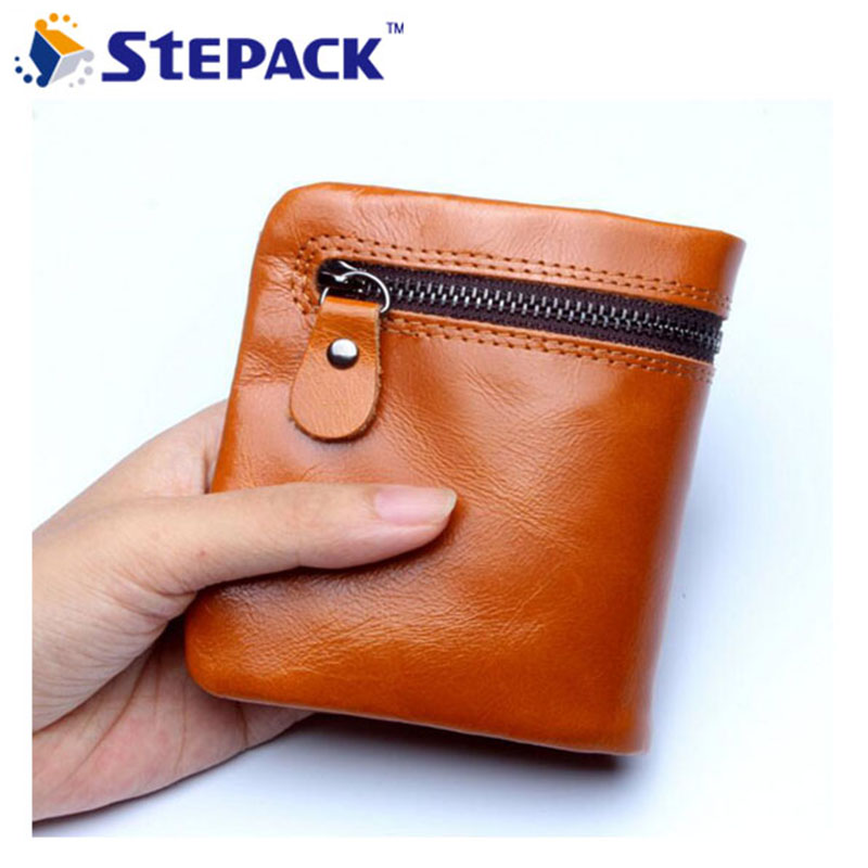 2016 Popular Women Wallet Top Quality Cowhide Leather Ladies Coin Purse Short Card Purse With Zipper Coin Money Bag WMB0104 simline fashion genuine leather real cowhide women lady short slim wallet wallets purse card holder zipper coin pocket ladies