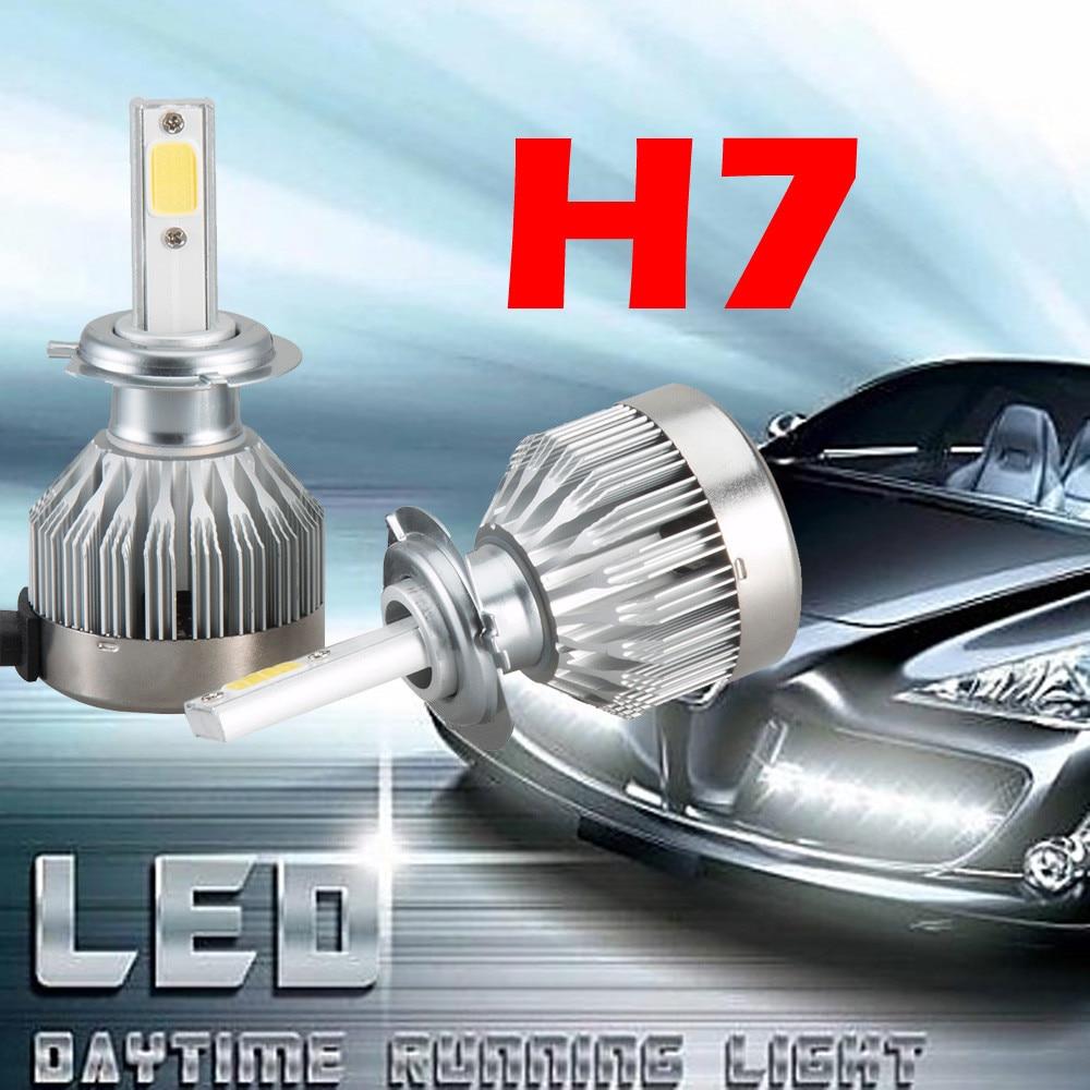 2x h7 ledライトヘッドライト車    のhi/loビーム電球