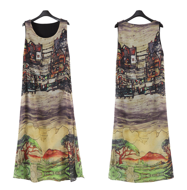 Dresses for Women Vintage Maxi Dress Sleeveless Casual Plus Size Summer Party Long Tank Top Sundress