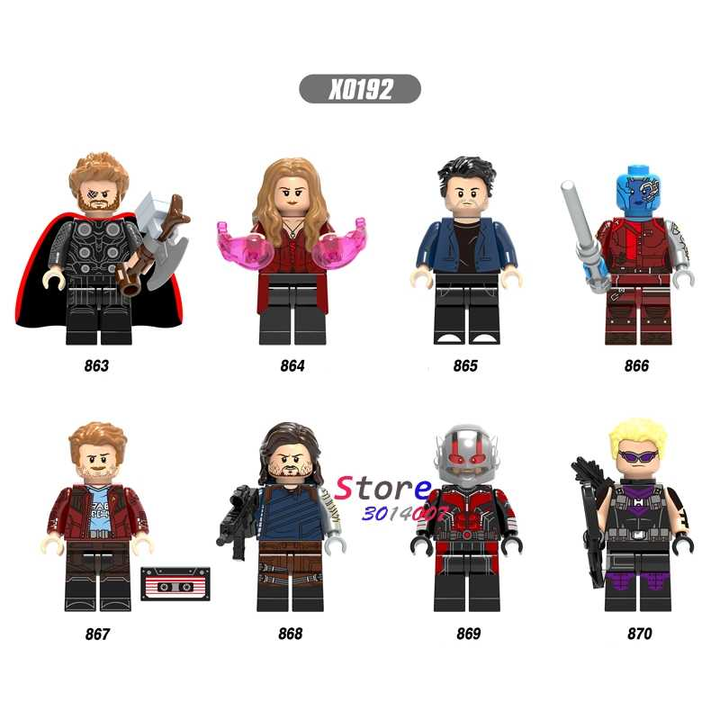 เดี่ยว Avengers Infinity War Thor ANTMAN Bruce แบนเนอร์รูปแม่มด Scarlet Witch อาคารบล็อกของเล่นเด็ก