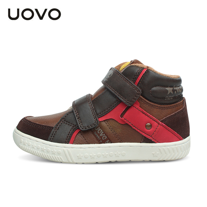 Image 3 - UOVO Spring And Autumn Kids Casual Shoes Boys Sneakers Mid Cut Fashion Children School Shoes Kids Footwear Size #27 37-in Sneakers from Mother & Kids