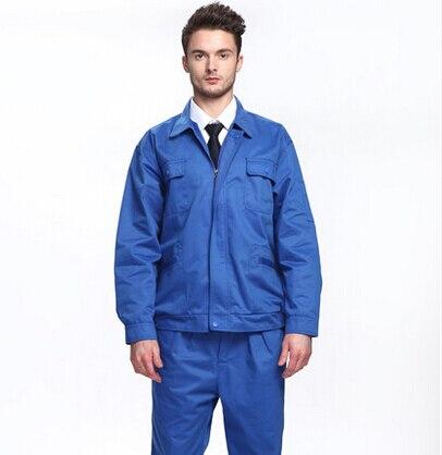 ФОТО FREE SHIPPING Set of Long-sleeve coat +Pants  workwear work wear set male autumn work wear long-sleeve male protective clothing