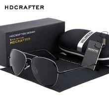2016 HDCRAFTER Brand Designer Aviator Men's Sunglasses Polarized Big Flat Lens Glasses Eyewear Retro Oculos With Case