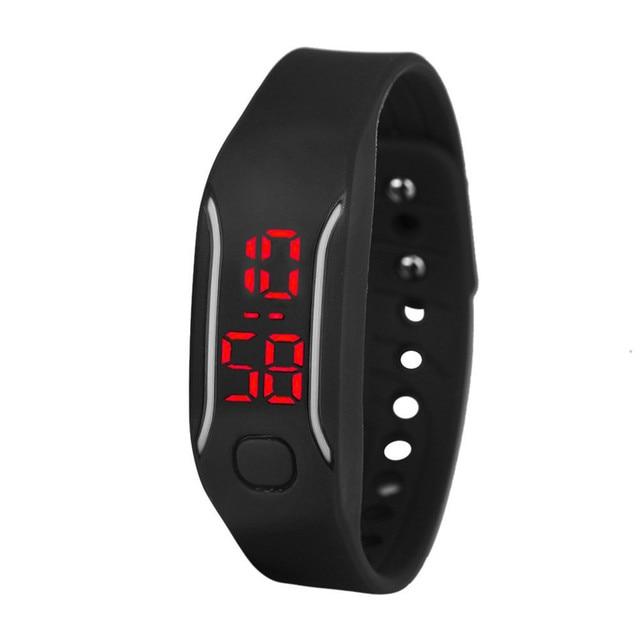 Irisshine i0392 Mens Womens Silicone LED Watch Date Sports Bracelet Digital Wris