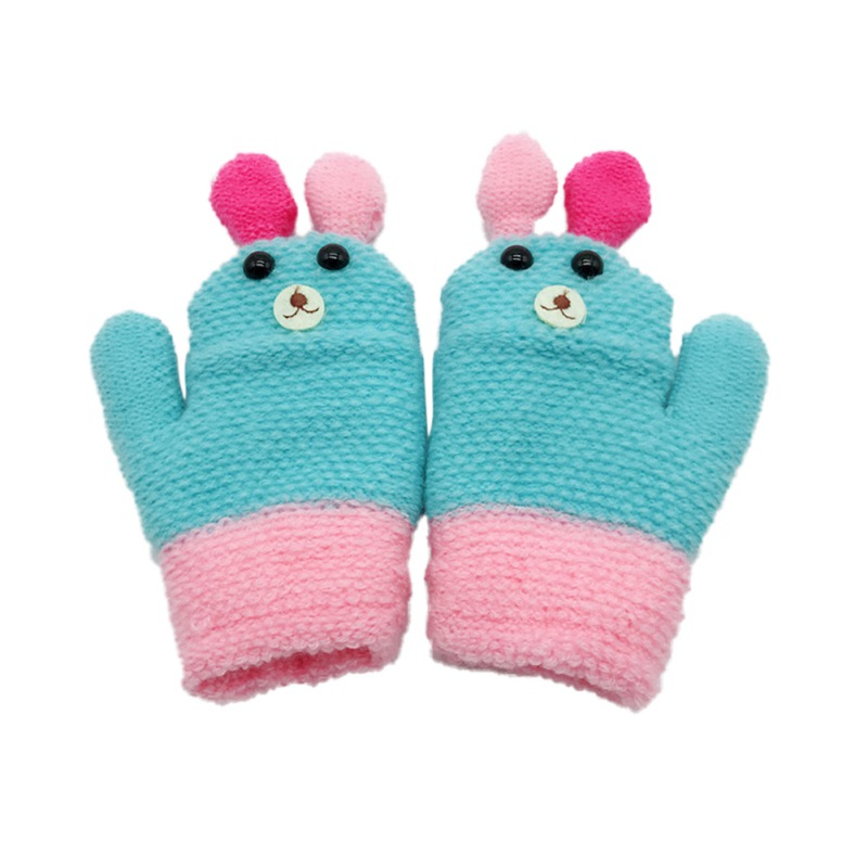 Mother & Kids Gloves & Mittens Toddler Baby Gloves Girls Boys Thicken Full Finger Glove Winter Warm Knitted Mittens Animal Pattern Gloves For Children Cleaning The Oral Cavity.