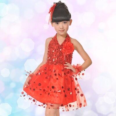 Z  I Store Children 's performance clothing child dance sequins Shaqun girls kindergarten modern dance children' s performance skirt clothi