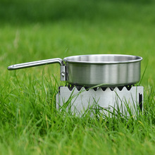 Outdoor mini kitchen Alcohol stove camping stainless steel  windproof windshield picnic solid liquid alcohol furnace