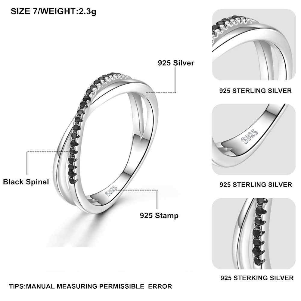 Повседневные 2 г 925 пробы серебряные ювелирные изделия модные обручальные Bague черная шпинель лист Женское Обручальное кольцо, бижутерия Femme GG009