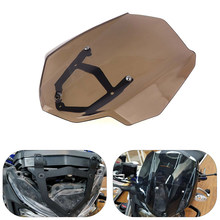 Acessórios Da Motocicleta Para YAMAHA MT 03 KEMiMOTO MT03 MT-03 2016 2017 Windshield WindScreen Com Mount Holder(China)