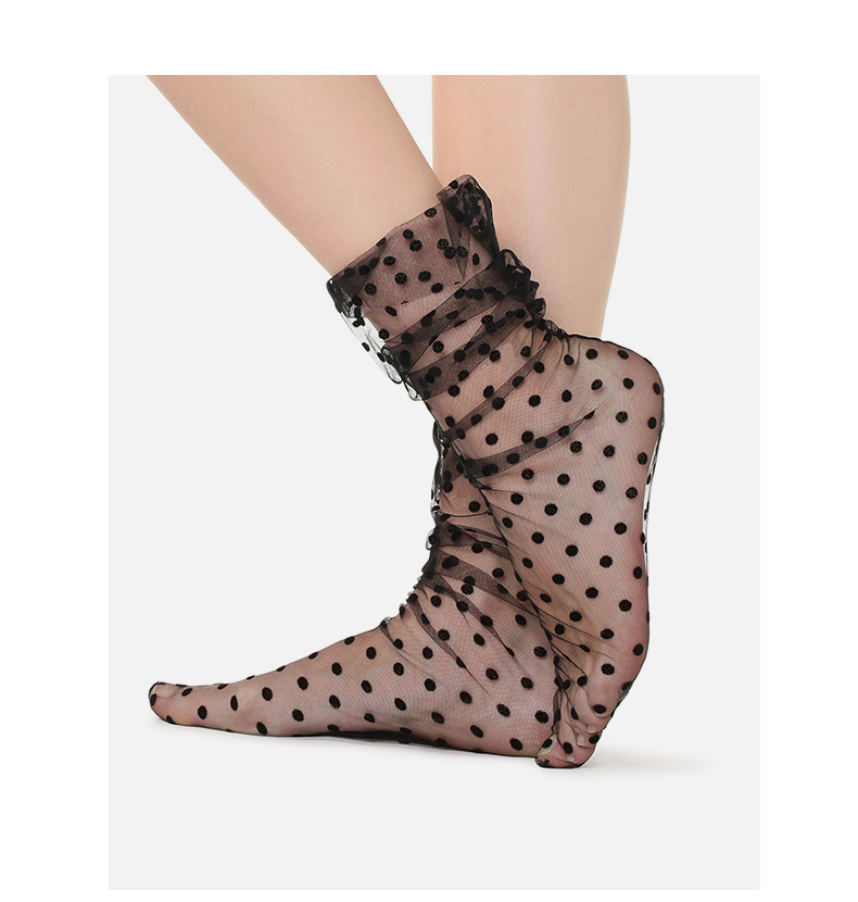 HTB19ibAXUrrK1RkSne1q6ArVVXa0 - UNIKIWI.Women's Harajuku Breathable Transparent Mesh Small Polka Dots Socks.Lady Net Yarn Fishnet Dots Socks Female Hosiery Sox