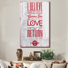 QKART I Believe That my Life is Quotes Posters and Prints Oil Painting on Canvas Art Prints for Living Room Home Decor no Frame