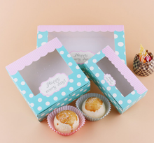 New Arrival Kraft Cookies Boxes with clear Window 10pcs/lot Cake Candy Favor For Party Guests