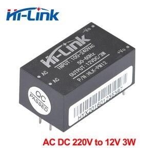 Image 2 - Бесплатная доставка, 2 шт./лот, от 220 В переменного и постоянного тока до 12 В, 3 Вт, изолированный мини модуль питания, HLK PM12 12 В, модуль преобразователя переменного и постоянного тока