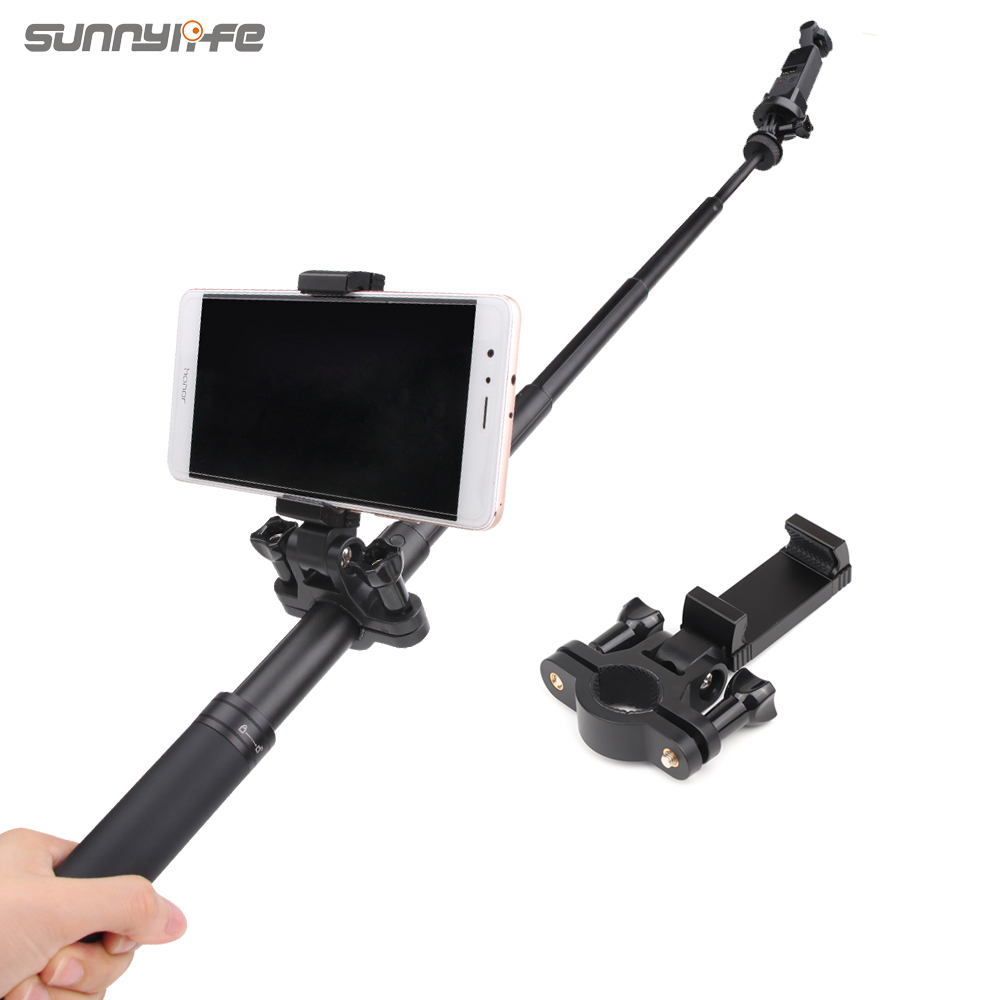 Sunnylife Smartphone Bracket Holder Selfie Support On Extension Rod For OSMO POCKET ACTION GOPRO GoPro Hero 8 MAX Sports Cameras