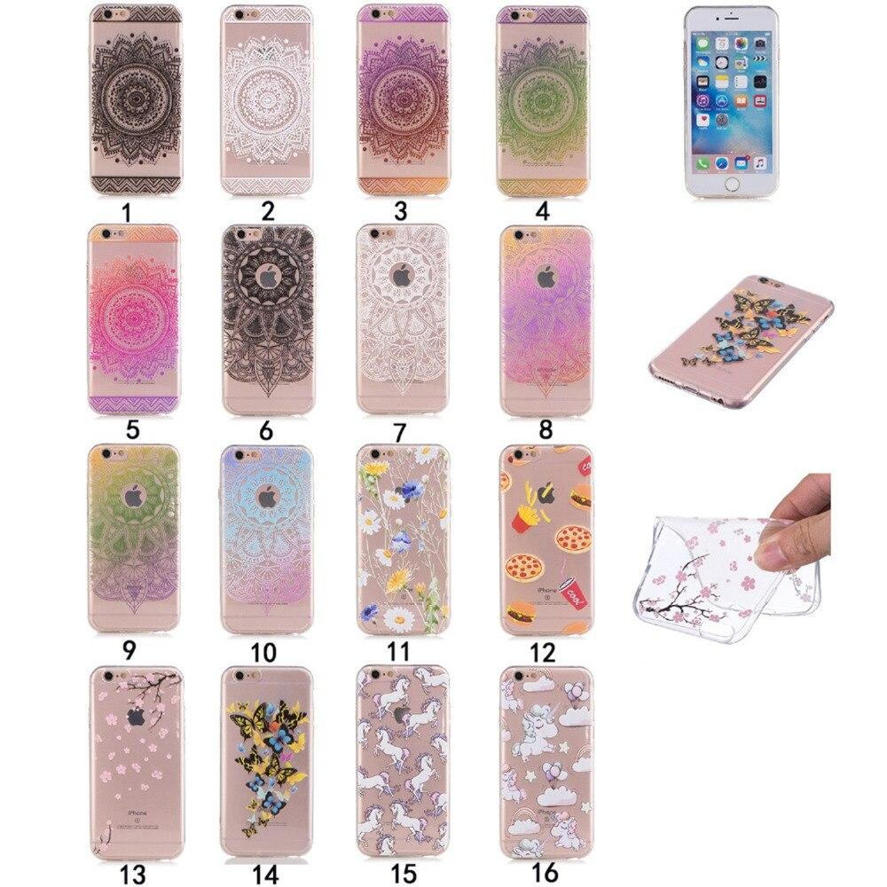 Moda pintura tpu case para apple iphone 6 6s 4.7 pulgadas accesorios del teléfon