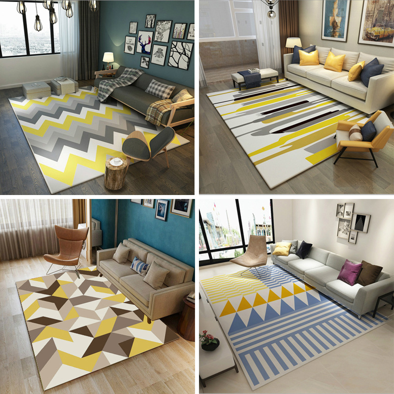Nordic Modern Simplicity Carpet The Sitting Room The Bedroom Tea Table Rugs Non-slip Mats Geometric Patterns Carpets