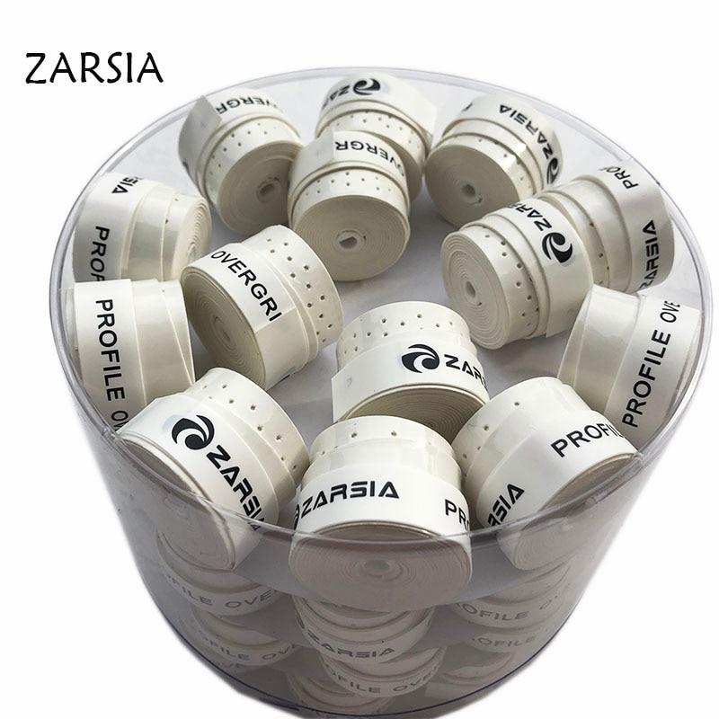 60 шт. Бесплатная доставка, овергрипы для тенниса zarasia, перфорированные липкие овергрипы для теннисной ракетки, запасная ручка, рукоятка для бадминтона