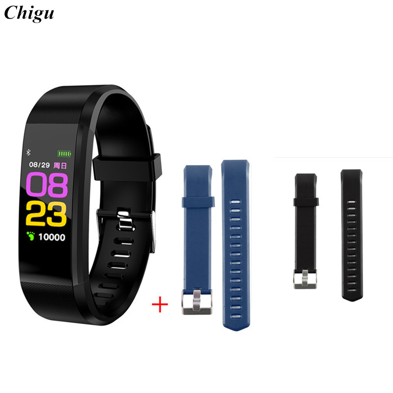 ID115 PLUS HR Smart Bracelet 2 Replace Straps Sports Wristband Fitness Tracker Heart Rate Monitor Smart Band for Iphone Samsung