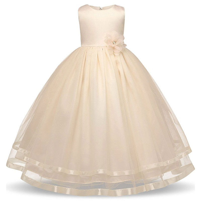 Flower Girls Dresses for Party and Wedding Summer Dress Girl Baby Princess Tulle Costume Kids Clothes Size 4 5 6 8 10 12 Years summer 2017 new girl dress baby princess dresses flower girls dresses for party and wedding kids children clothing 4 6 8 10 year