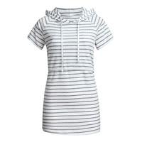 Nursing top Women Maternity Short Sleeve Striped Hoodie Nursing Breastfeeding Pullover Tops breastfeeding clothes #4J17